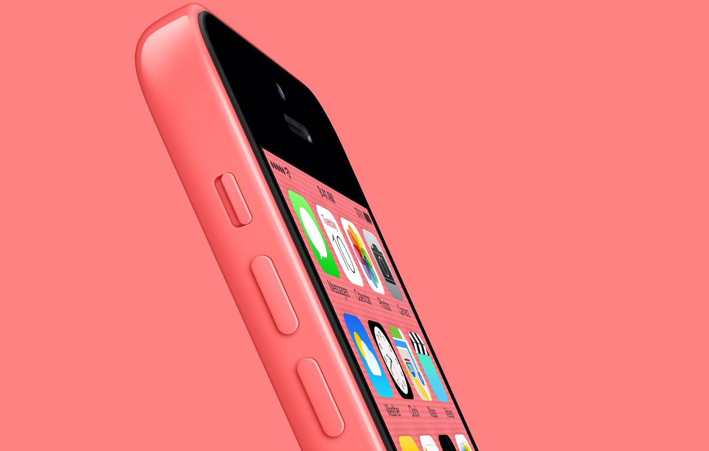 pink iPhone 5c pink background