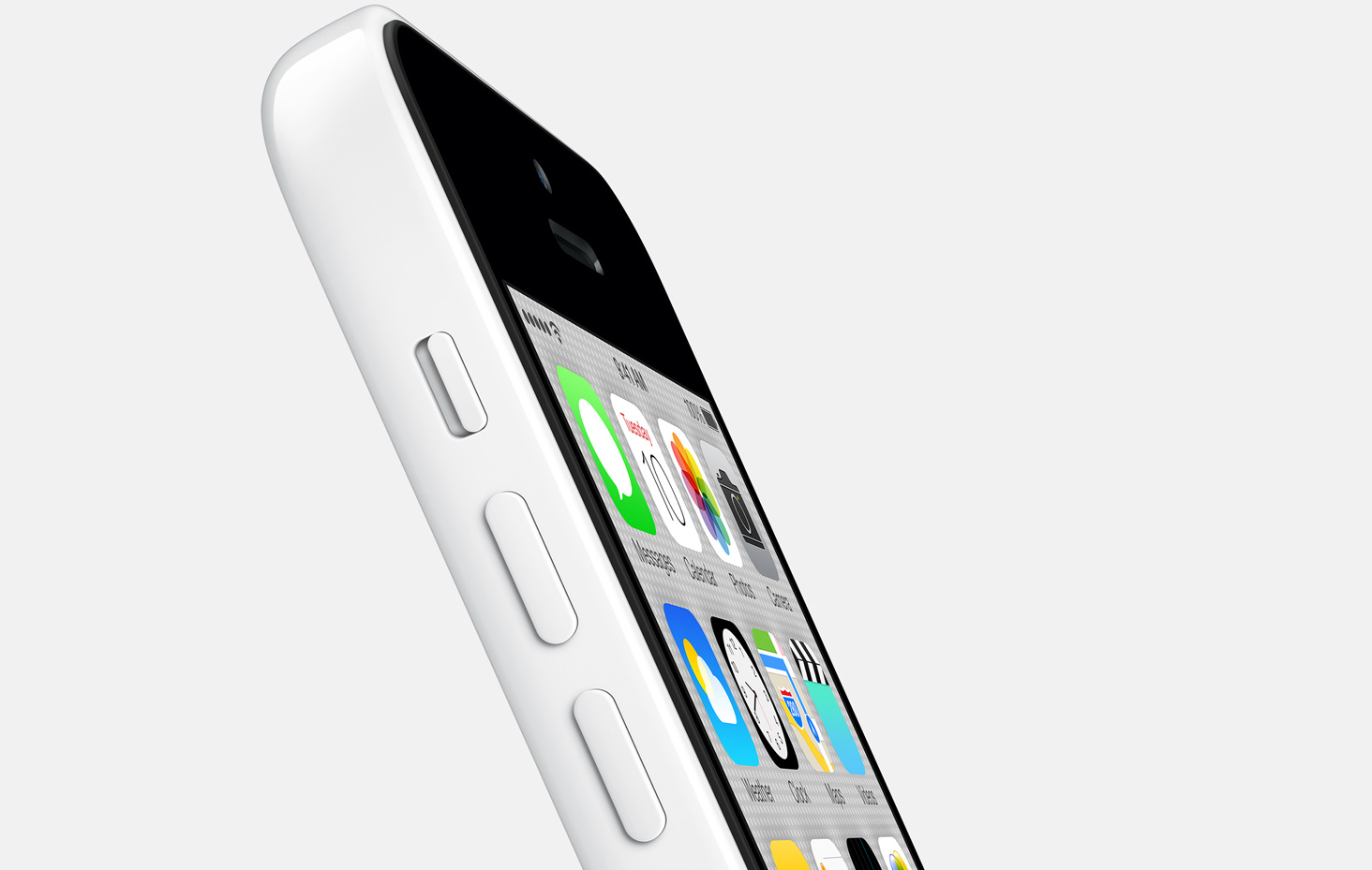 white iPhone 5c white background