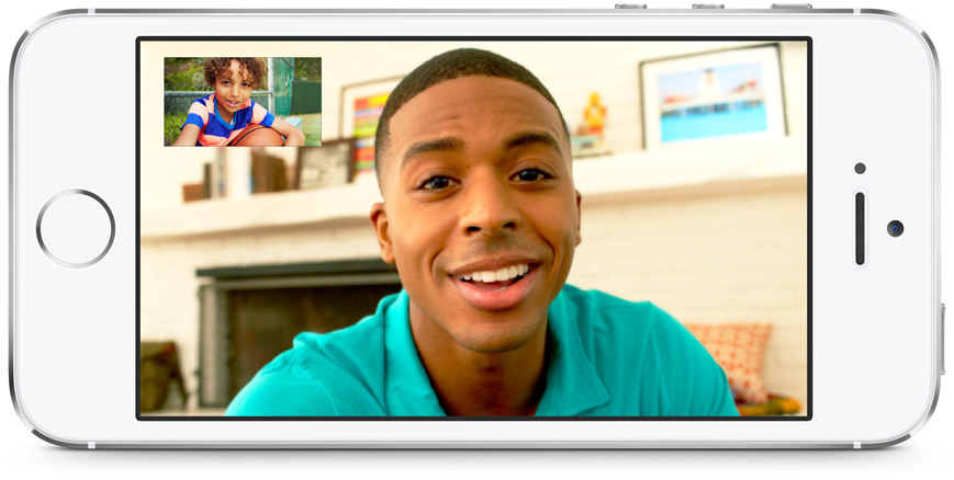 white iPhone 5s Facetime