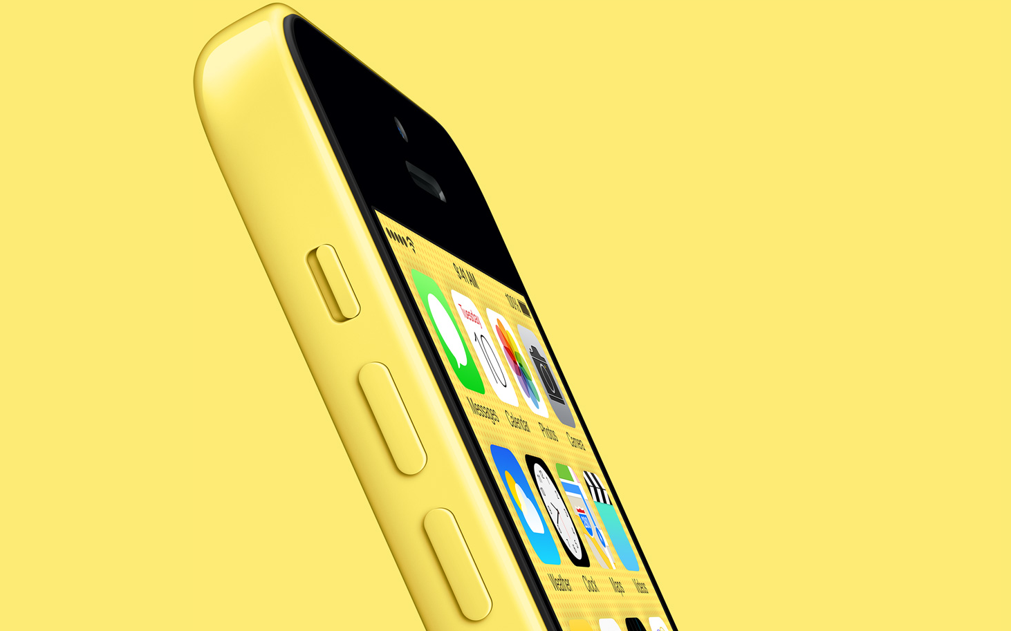 yellow iPhone 5c yellow background