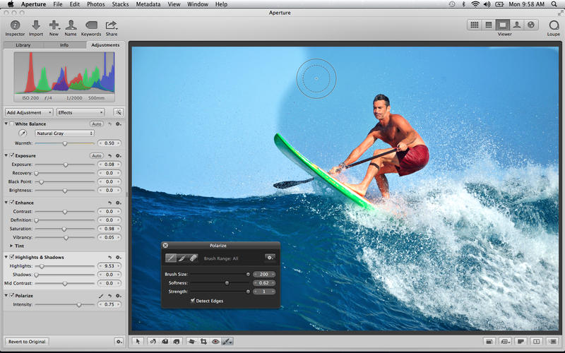 Aperture 3.5 for Mac (screenshot 001)