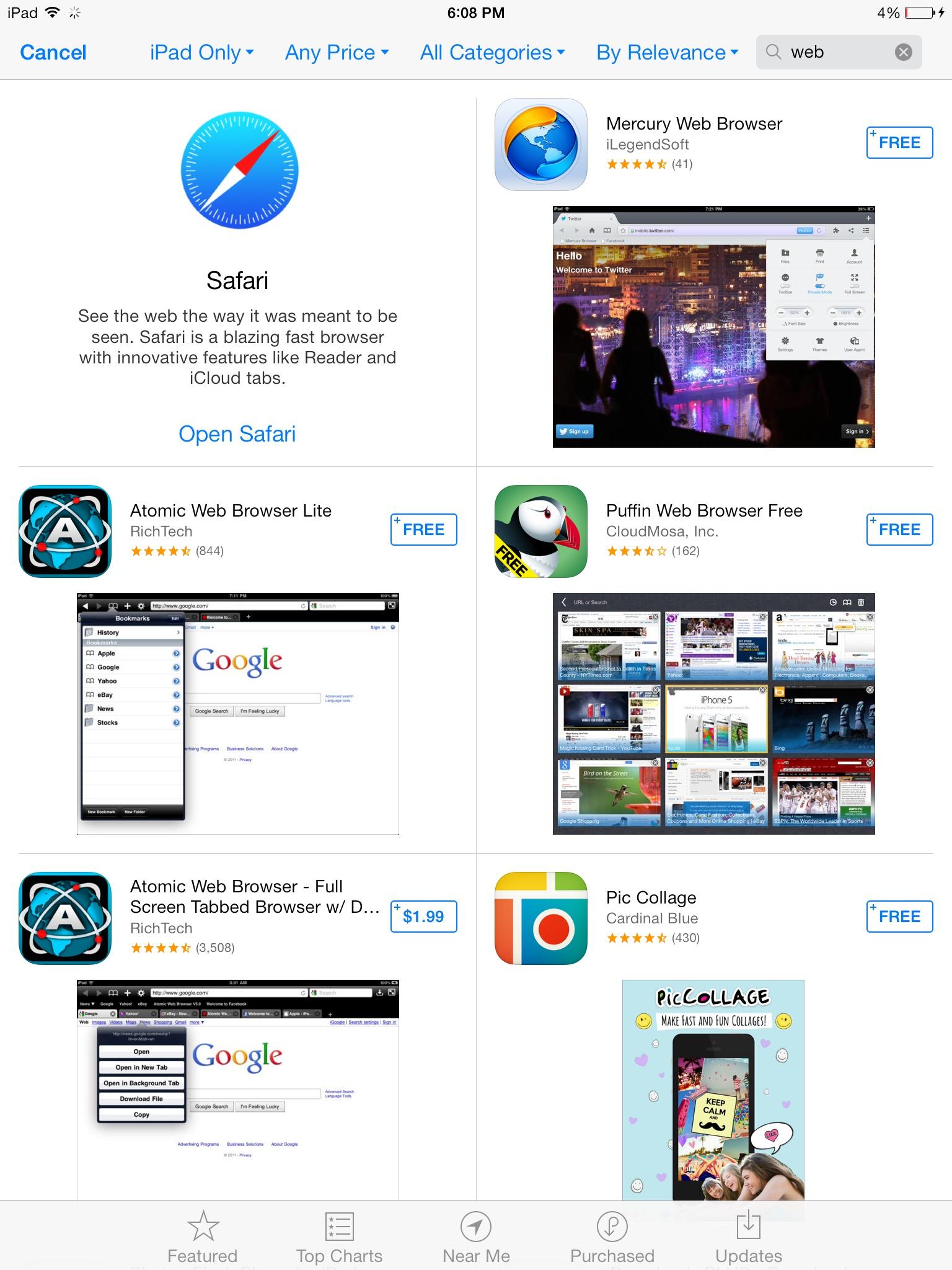 App Store banner (Safari 001, iPad)