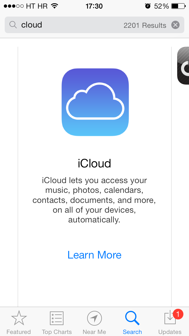 App Store banner (iCloud 001)