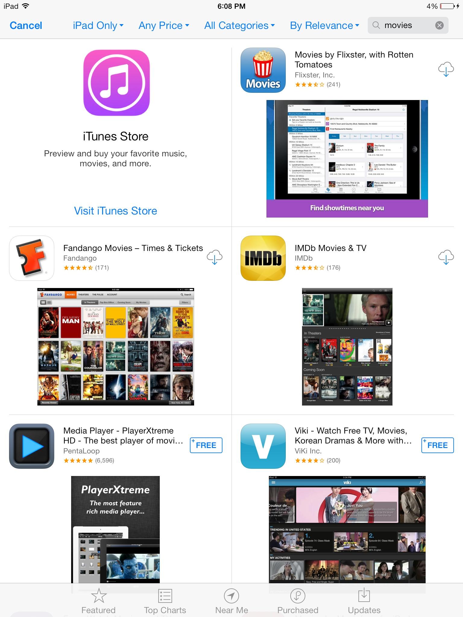 App Store banner (iTunes Store 001, iPad)