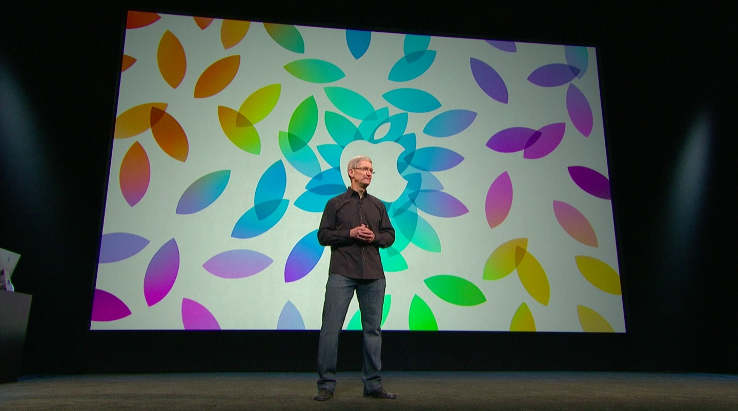 Apple October 2013 event (Tim Cook, Apple logo 001)