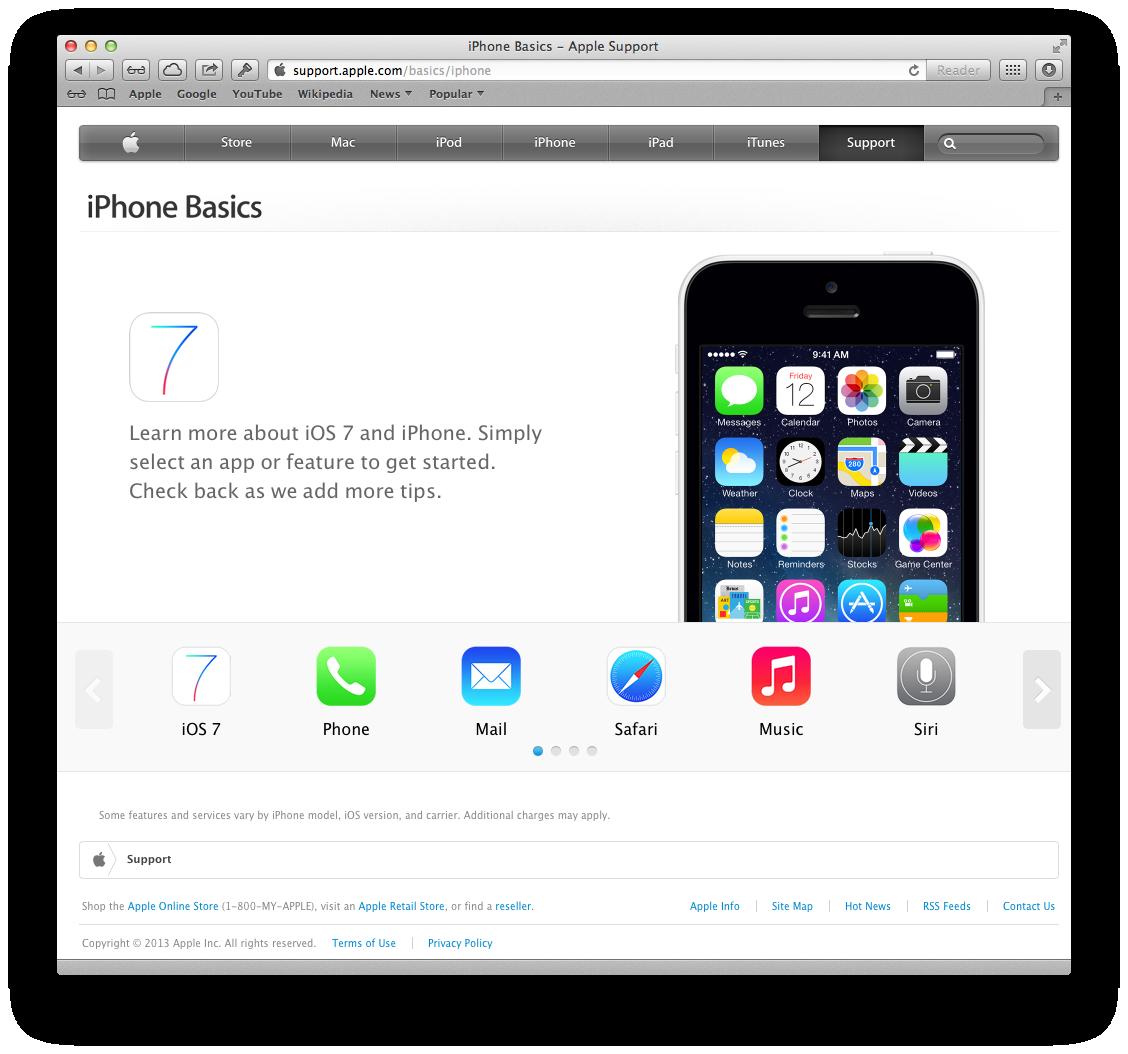 Apple website (iPhone Basics 001)