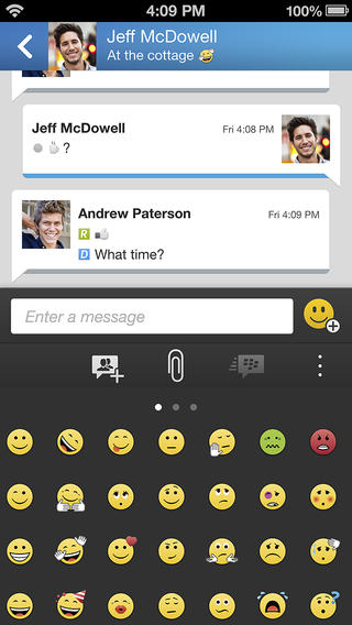 BBM 1.0.1 for iOS (iPhone screenshot 004)