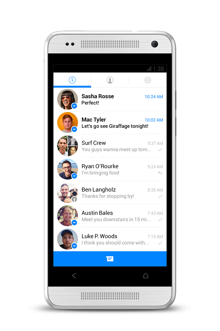 Facebook Messenger new look (Android 003)