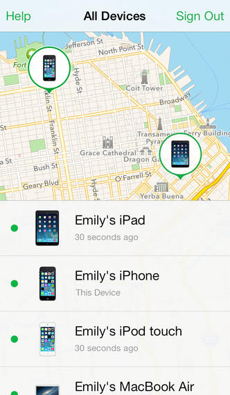 Find my iPhone 3.0 for iOS (iPhone screenshot 001)
