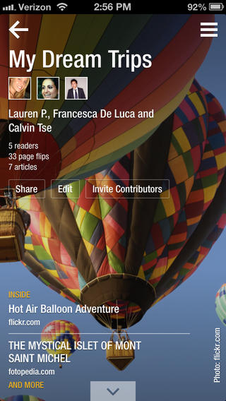 Flipboard 2.0.1 for iOS (iPhone screenshot 003)