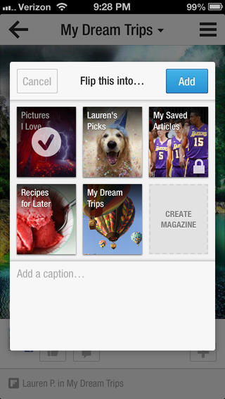 Flipboard 2.0.1 for iOS (iPhone screenshot 004)