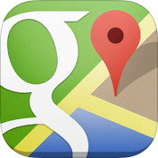 Google Maps 2.3.4 for iOS (app icon, small)