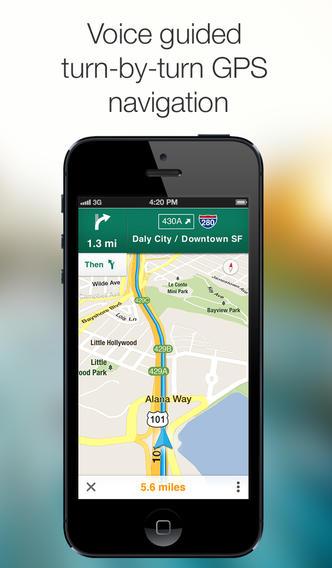 Google Maps 2.3.4 for iOS (iPhone screenshot 003)
