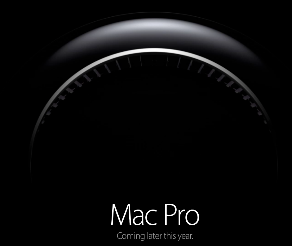 Mac Pro teaser (coming later this year)