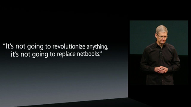 Tim Cook Netbooks iPad