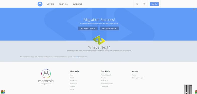 Motorola iCloud migration tool (web screenshot 004)