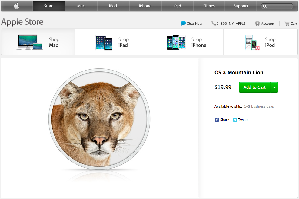 Mountain Lion (Apple Store promo code)