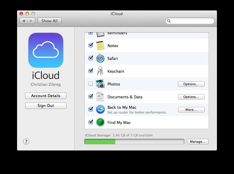 OS X Mavericks (System Preferences 001)