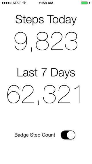 Pedometer 1.0 for iOS (iPhone screenshot 001)
