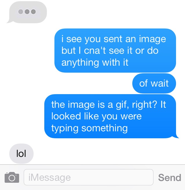 This iMessage prank got me going for a while