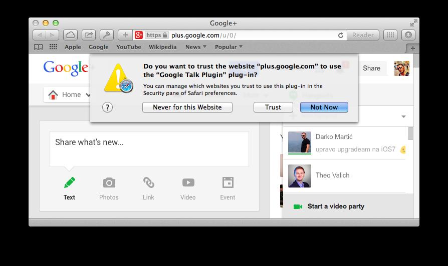 Safari on Mavericks (Settings, Security, Plug-ins 001)