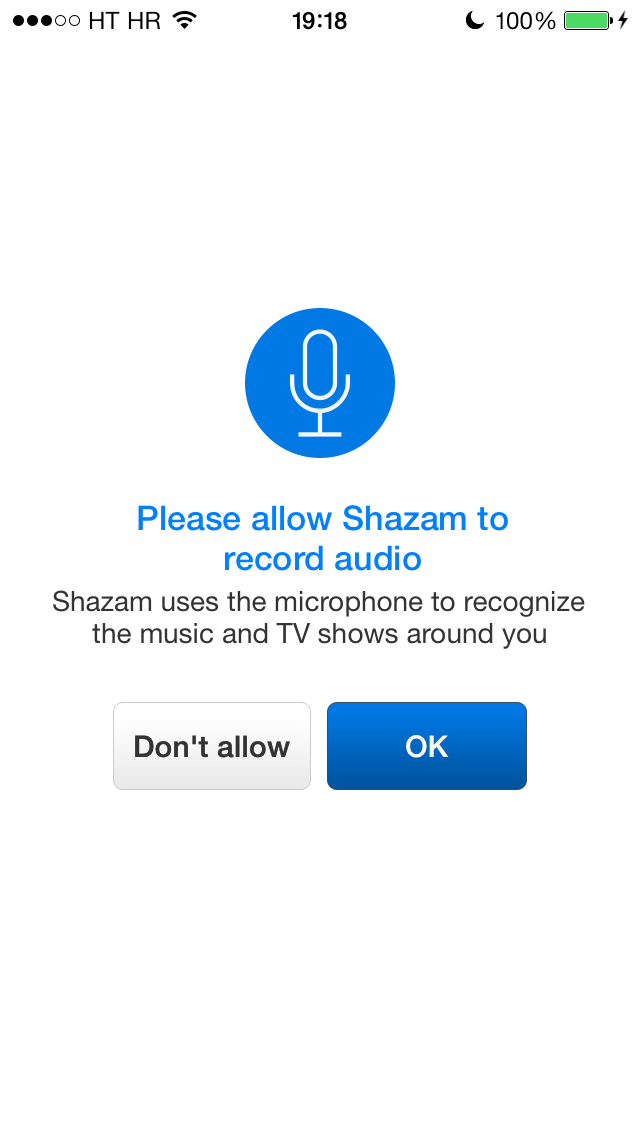 Shazam 7.1 for iOS (iPhone screenshot 001)