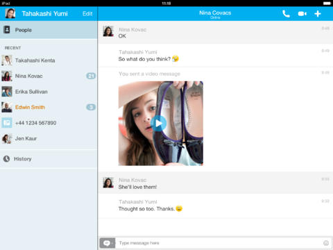 Skype 4.13 for iOS (iPad screenshot 001)