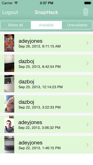 SnapHack 1.0 for iOS (iPhone screenshot 001)
