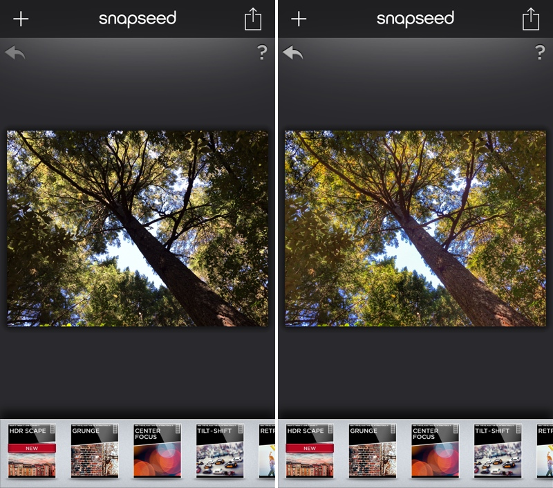 Snapseed 1.6 for iOS (iPhone screenshot 002)