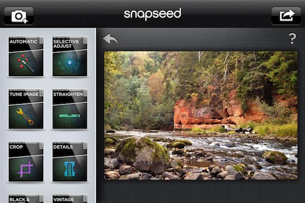 Edición de fotos Snapseed