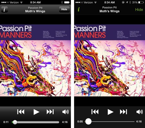 Spotify iOS 7