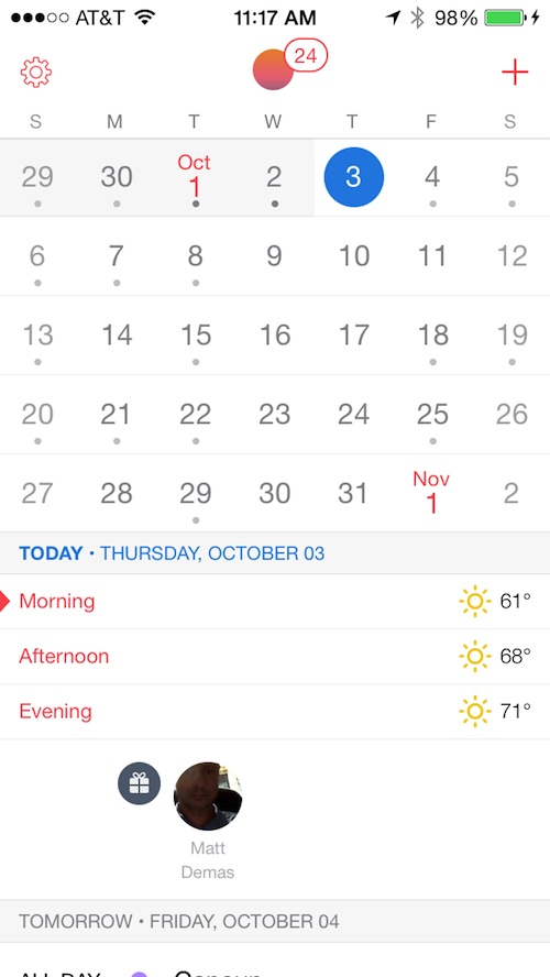 Sunrise Kalender
