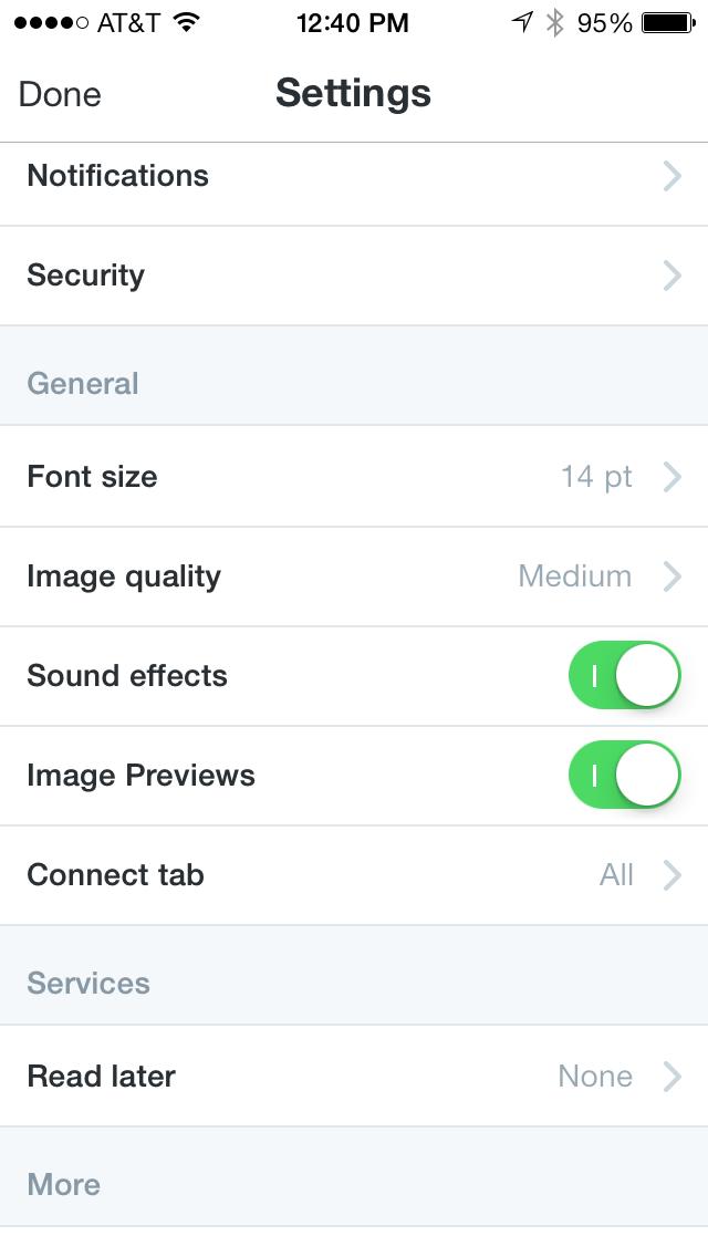 Twitter 5.12 for iOS (iPhone screenshot 001)