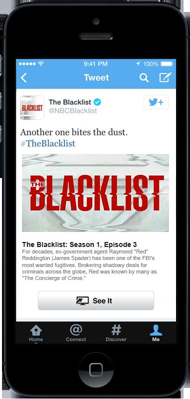 Twitter (See It, Comcast, The Blacklist)