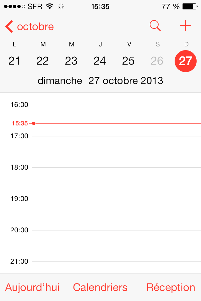 Wrong calendar time iOS 7