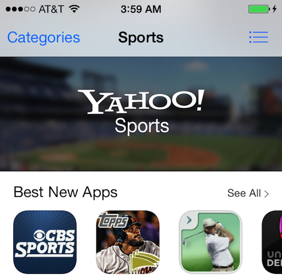 app store sports