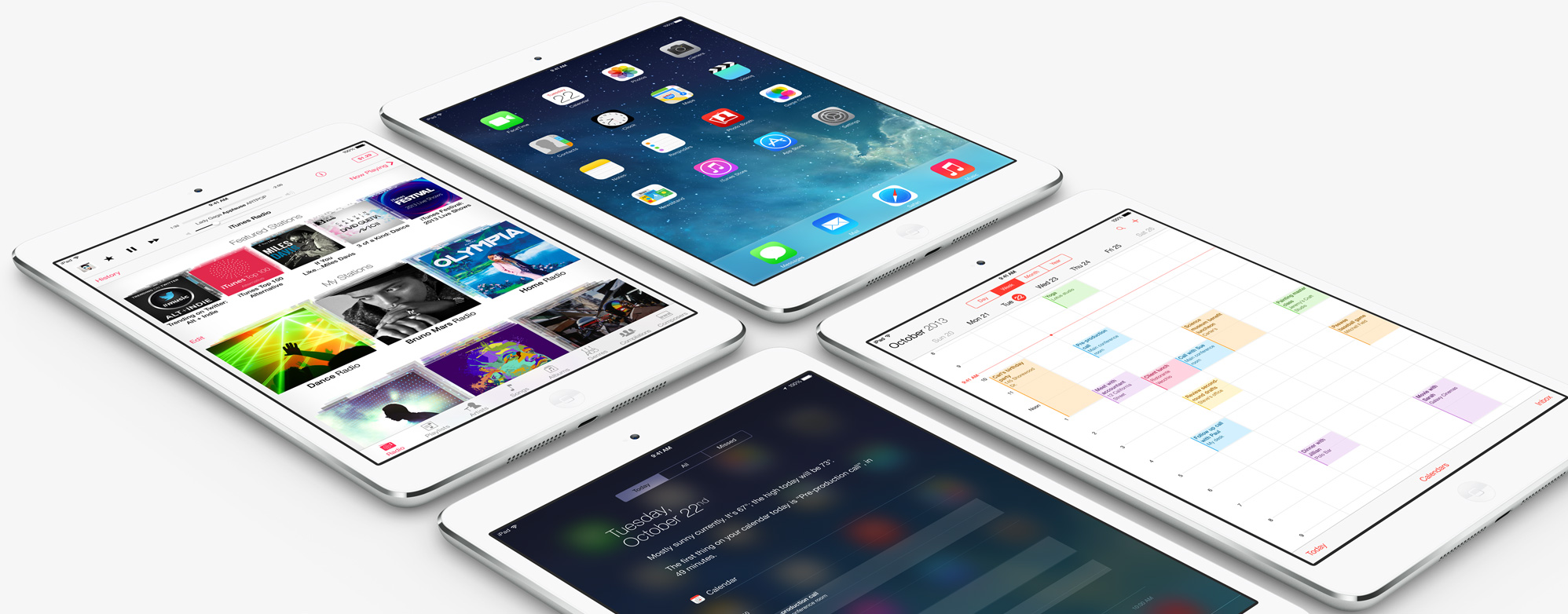 four iPad mini retina display