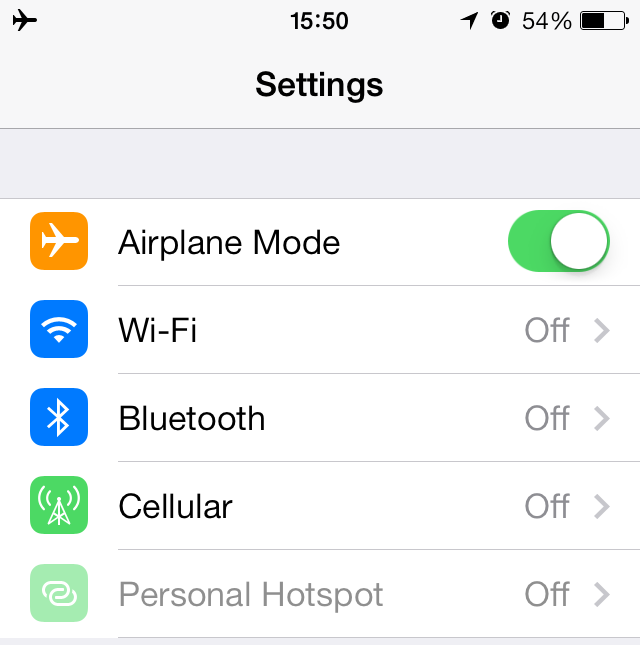 iOS 7 (Airplane Mode 001)