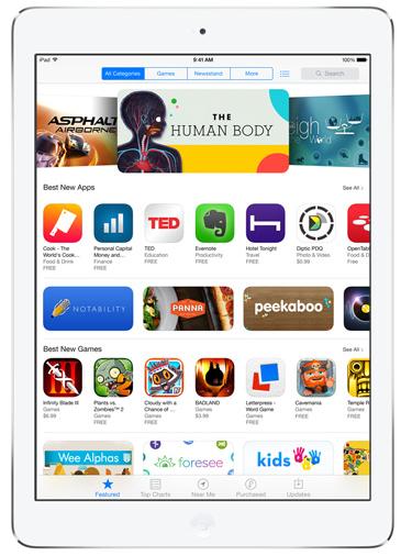 iPad Air App Store