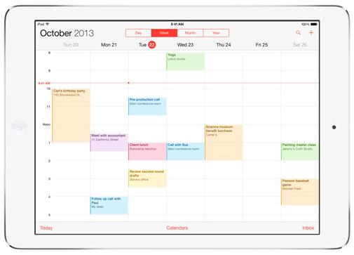 iPad Air Calendar