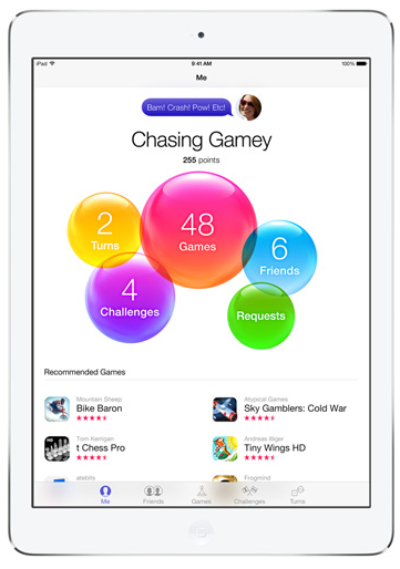 iPad Air Game Center