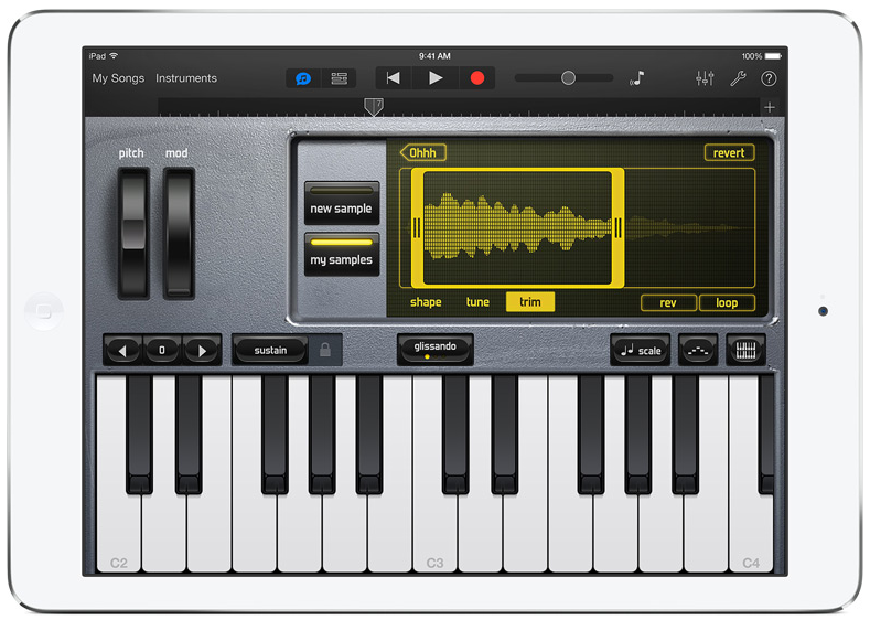 iPad Air GarageBand 2