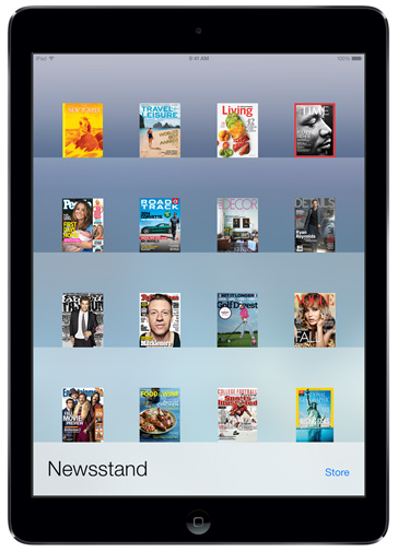 iPad Air Newsstand