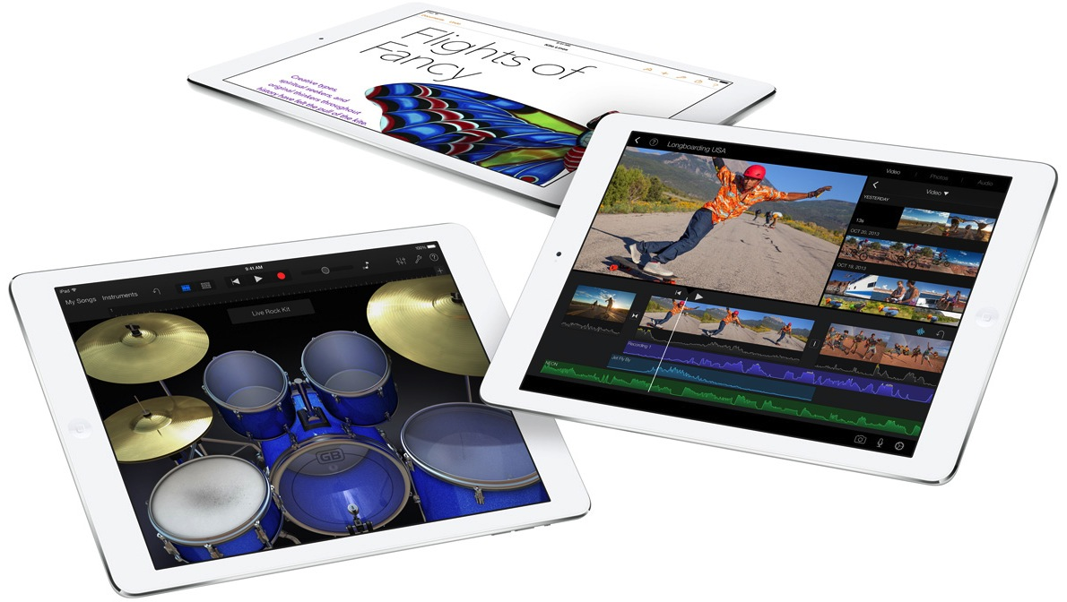 iPad Air Pages iMovie GarageBand