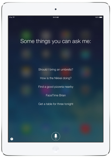 iPad Air Siri