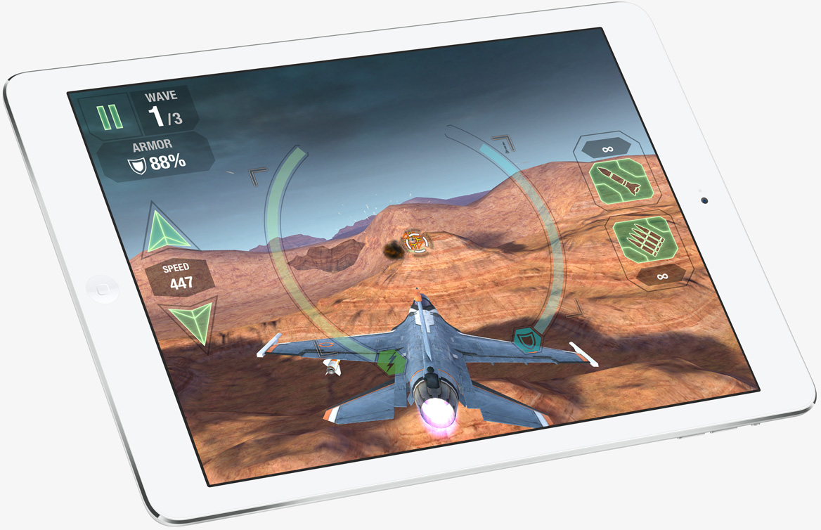 iPad Air airplane game app