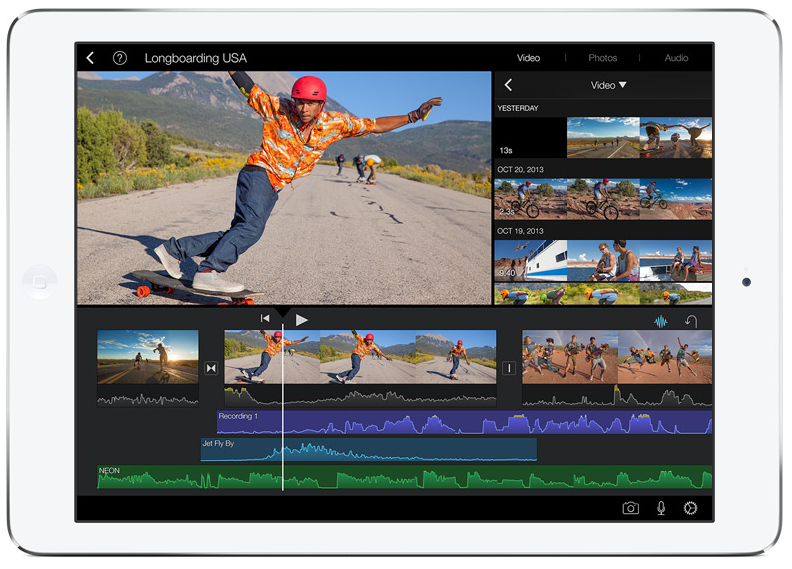iPad Air iMovie 2