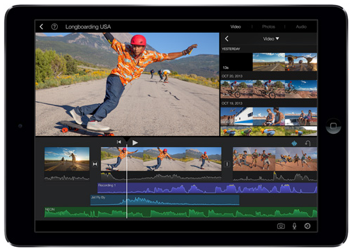 iPad Air iMovie