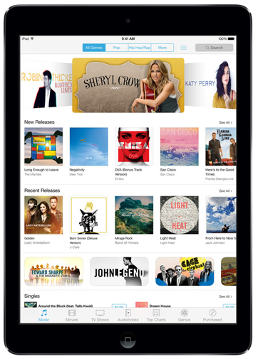 iPad Air itunes store