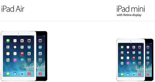 iPad air vs mini retina